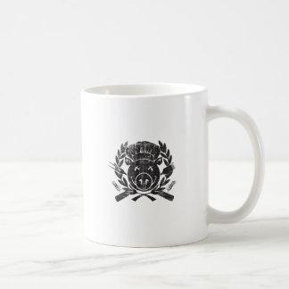 BBQ Crest - worn black Classic White Coffee Mug