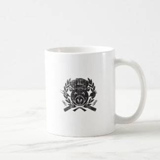 BBQ Crest - worn black Coffee Mug