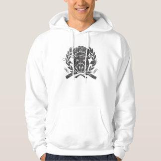 BBQ Crest - worn black Hooded Sweatshirt