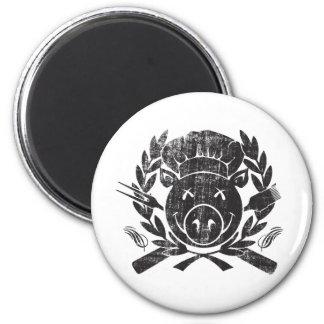 BBQ Crest - worn black Magnet