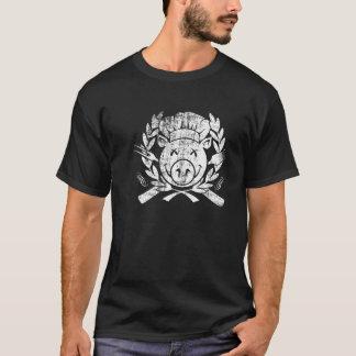 BBQ Crest - worn white T-Shirt