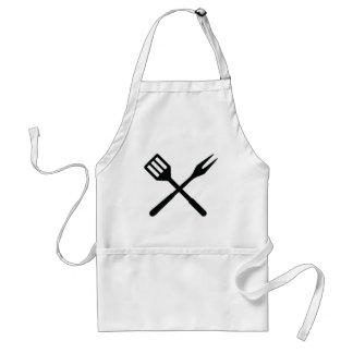 BBQ cutlery icon Adult Apron