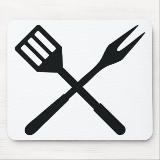 BBQ cutlery icon Mouse Pad