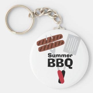 Bbq de Cookout_Summer Llavero Redondo Tipo Pin