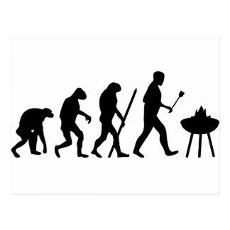 Bbq de la evolución del cocinero del cocinero postal