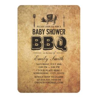 Bbq de la fiesta de bienvenida al bebé de la carne comunicados