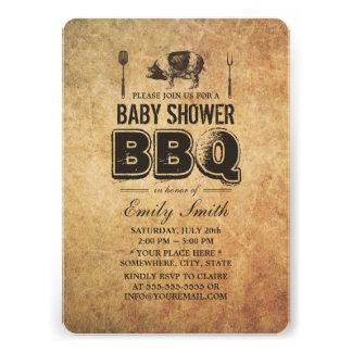 Bbq de la fiesta de bienvenida al bebé de la carne
