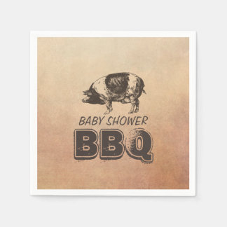 Bbq de la fiesta de bienvenida al bebé de la carne servilleta de papel