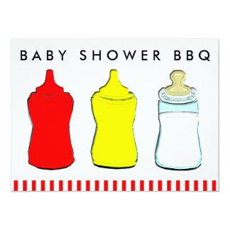 """Bbq de la fiesta de bienvenida al bebé invitación 5.5"""" x 7.5"""""""