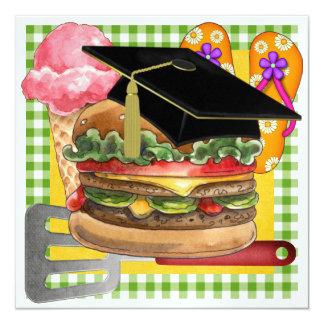 ¡Bbq de la graduación! SRF Invitación 13,3 Cm X 13,3cm