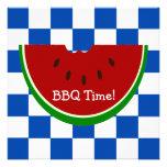 Bbq de la manta de la comida campestre de la sandí comunicado personal