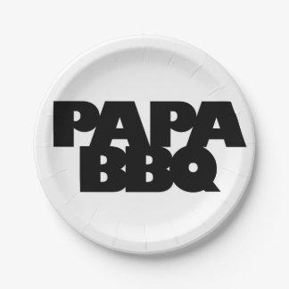 Bbq de la papá platos de papel