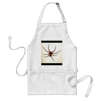 Bbq de la pierna de la araña, milímetro milímetro  delantal