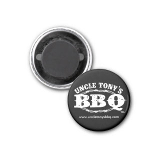 BBQ de tío Tony, 1 imán redondo de la pulgada del
