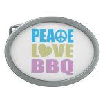 Bbq del amor de la paz hebillas de cinturón ovales