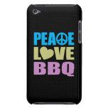 Bbq del amor de la paz iPod Case-Mate carcasa