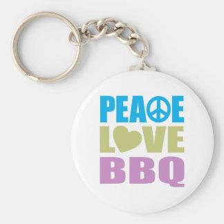 Bbq del amor de la paz llaveros personalizados