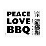 Bbq del amor de la paz sello