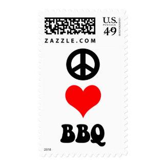 Bbq del amor de la paz franqueo