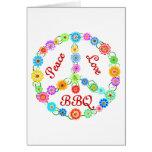 Bbq del amor de la paz tarjetas