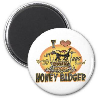 Bbq del tejón de miel imán de frigorifico