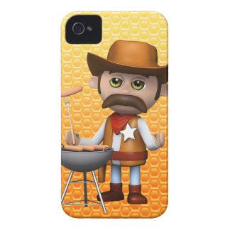 Bbq del vaquero 3d Case-Mate iPhone 4 fundas
