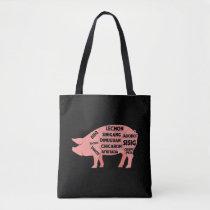 BBQ Diagram Filipino Pig Pork Cuts Meat Tote Bag