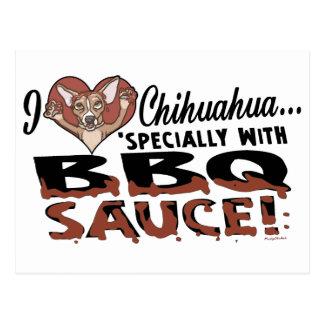 Bbq divertido de la chihuahua tarjetas postales