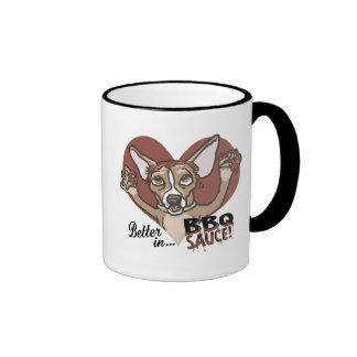 Bbq divertido de la chihuahua taza de café