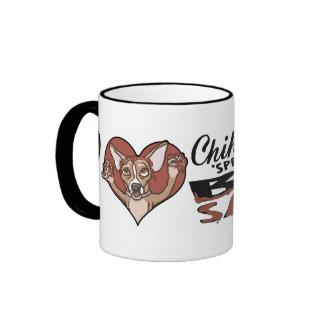 Bbq divertido de la chihuahua tazas de café
