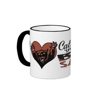 Bbq divertido del gato taza de café