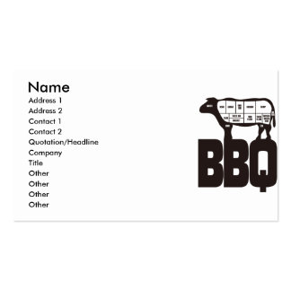 BBQ Double-Sided STANDARD BUSINESS CARDS (Pack OF 100)