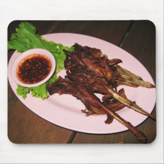 BBQ Duck Beaks ... Thai Asian Street Food Mouse Pad
