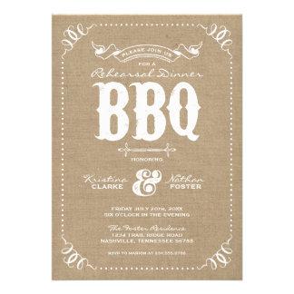 Bbq elegante de la cena del ensayo del vintage rús invitacion personal