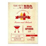 "BBQ Engagement Party Invitation 5"" X 7"" Invitation Card"