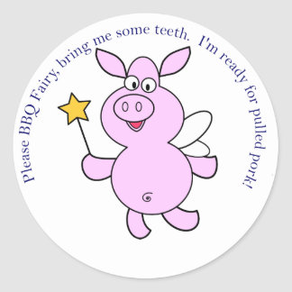 BBQ Fairy Classic Round Sticker
