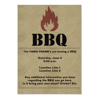 BBQ Flame Invitation