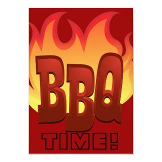bbq flame text design invite