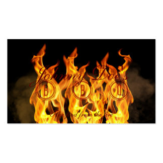 BBQ Flames Double-Sided Standard Business Cards (Pack Of 100)