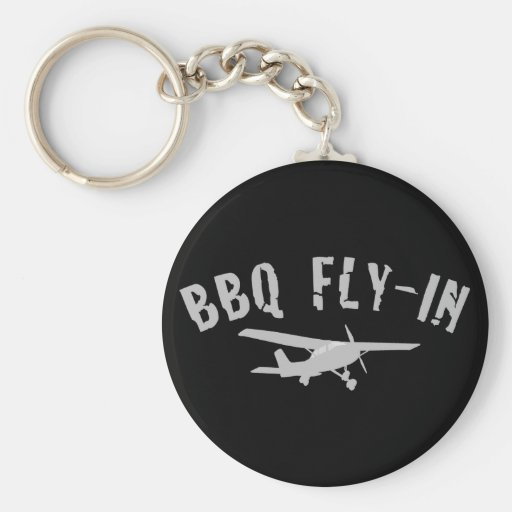 BBQ Fly-In Airplane Key Chain