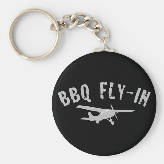 BBQ Fly-In Airplane Keychain