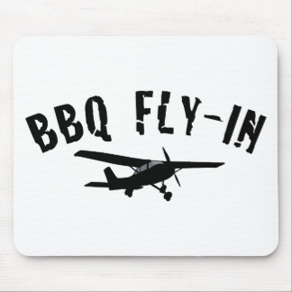 BBQ Fly-In Airplane Mouse Pad