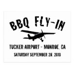 BBQ Fly-In Airplane Postcard