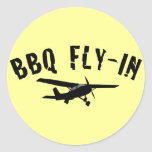 BBQ Fly-In Airplane Stickers