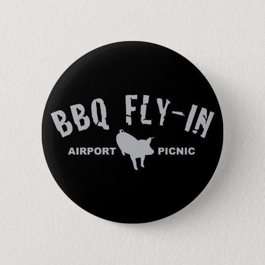 BBQ Fly In Pig Button