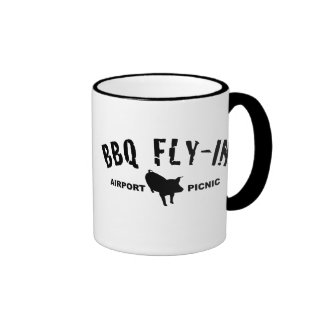BBQ Fly In Pig Ringer Mug