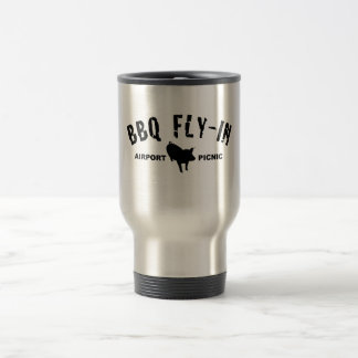 BBQ Fly In Pig Travel Mug
