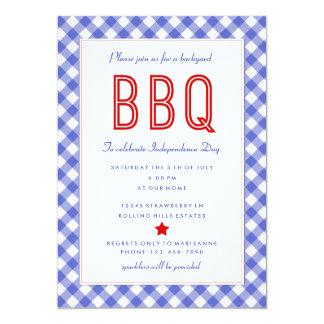 Bbq |Fourth del patio trasero de la invitación del