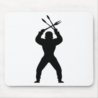BBQ freak icon black Mouse Pad