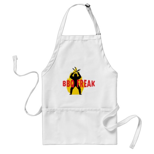BBQ-Freak with cutlery and flame Adult Apron